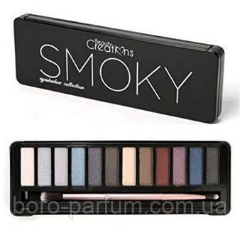 Тени Beauty Creations Smoky Eyeshadow Palette (12 цветов)