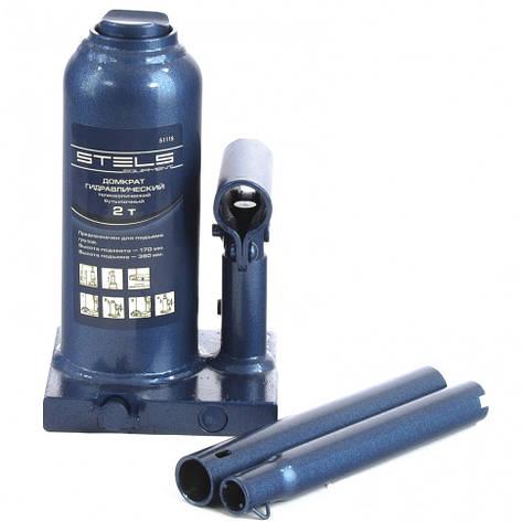 Домкрат гидравлический бутылочный телескопический, 2 т, H подъема 170-380 мм. STELS, фото 2