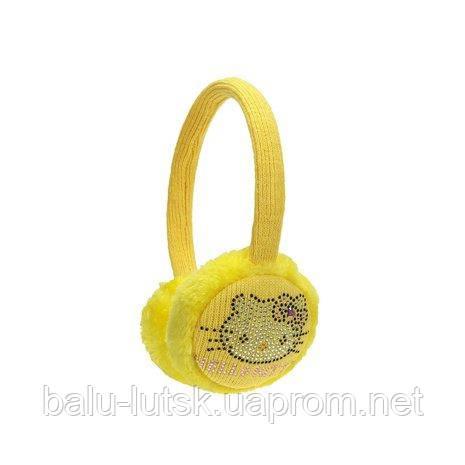 afe16bd65595 Желтые теплые наушники для девочки - Интернет-магазин