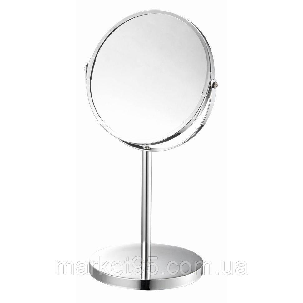 Зеркало косметическое d=17см Eco Fabric, хром