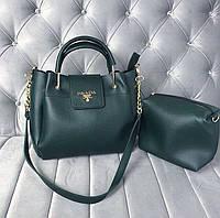 Женская сумка Prada зеленая