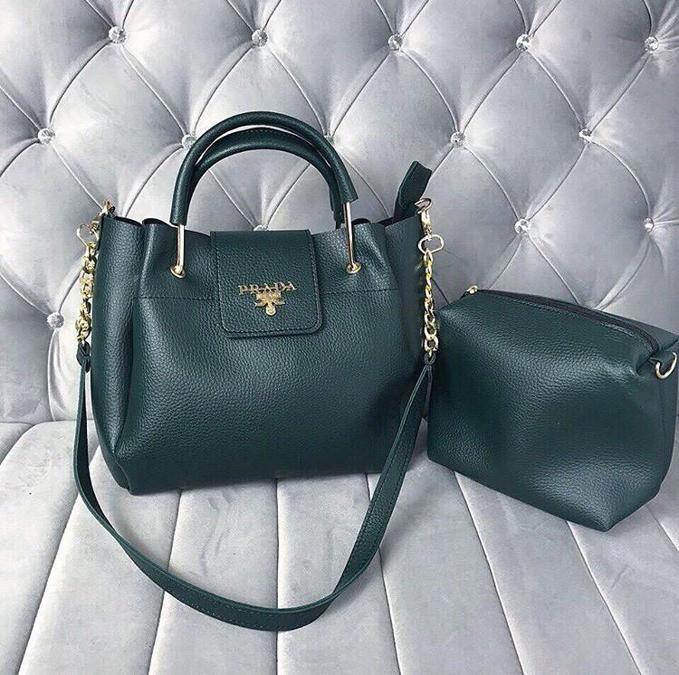 770107cc4b12 Женская сумка Prada зеленая, цена 529 грн., купить в Харькове — Prom.ua  (ID#838854007)