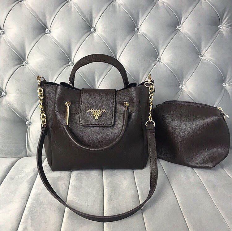 7390ec7a6f66 Женская сумка Prada коричневая, цена 529 грн., купить в Харькове — Prom.ua  (ID#838856378)