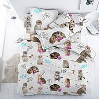 Пушистики, подростковое постельное белье с котиками (поплин, 100% хлопок)