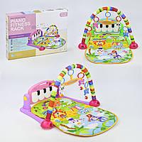 Музыкальный коврик с игрушками для малышей