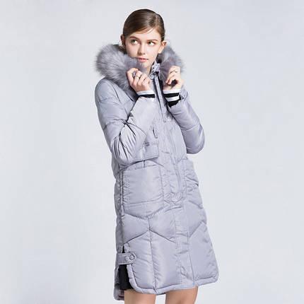 Женское серое пальто с мехом , фото 2