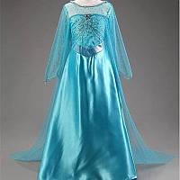 Платье Эльзы Холодное сердце с длинным шлейфом