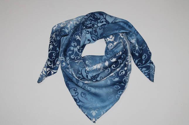 Женский шерстяной платок Зимние узоры, фото 2