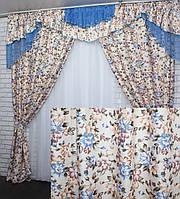 """Новинка!!! Комплект шторы с ламбрекеном коллекция """"Элит Прованс"""" на карниз 3м. Код 090лш313, фото 1"""