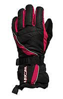 Перчатки Woosh Thinsulate 3M pink розовые-black черные L