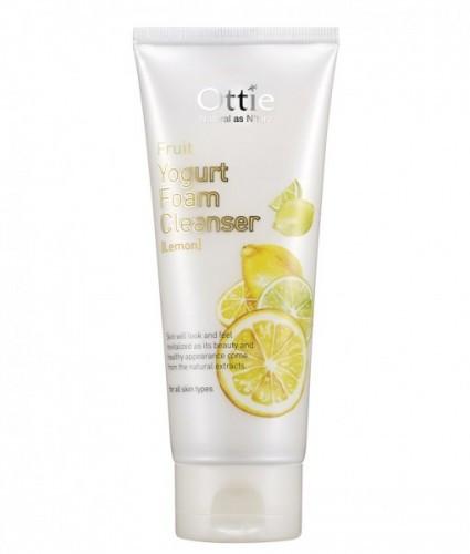 Очищающая Йогуртовая пенка для умывания с экстрактом лимона Ottie Fruits Yogurt Foam Cleanser Lemon 150 мл