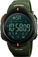 • Гарантия! Skmei(Скмей) 1301 Army green | Cпортивные мужские часы !