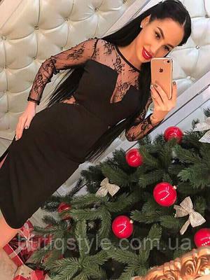 Вечернее женское платье с кружевом