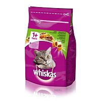 Whiskas 1+ cухой корм с ягненком для взрослых кошек 14КГ
