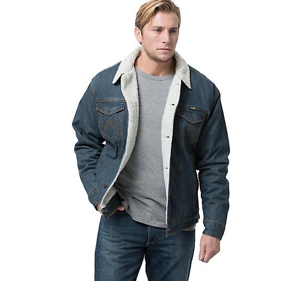 Зимняя джинсовая куртка Wrangler® MensDenim Sherpa Jacket - Blue