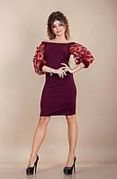 Платье с пышными рукавами в расцветках 26282, фото 1