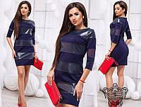 Платье кожаные вставки в расцветках 26283, фото 1