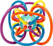 Игрушка погремушка проволока синяя с оранжевым
