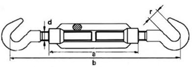 Талреп М22 DIN 1480 тип крюк-крюк - купить