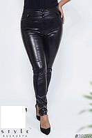 Лосины-брюки женские на флисе в большом размере, фото 1