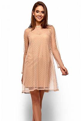 (S, M, L) Неповторне бежеве плаття-двійка Dasty