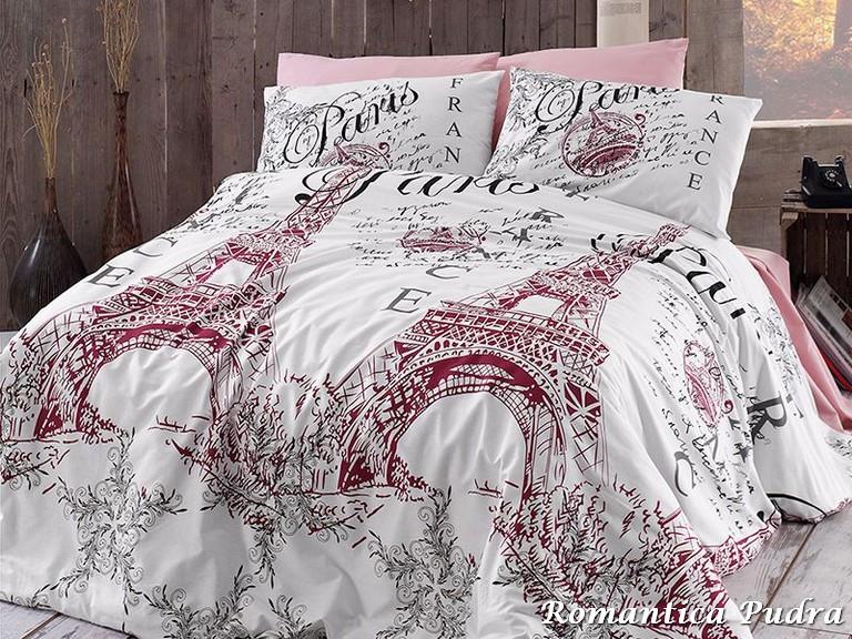 Комплект постельного белья First Choice Ранфорс 200x220 Romantica Pudra