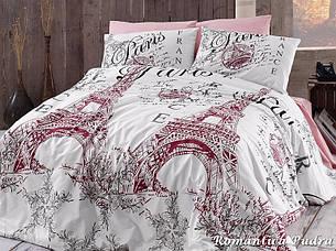Комплект постельного белья First Choice Ранфорс 200x220 Romantica Pudra, фото 2