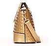 Сумка женская через плечо с плетением Золотой, фото 3