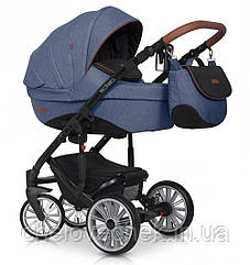 Детская коляска универсальная 2 в 1 Euro-Cart Delta denim (Евро-Карт Дельта, Польша)