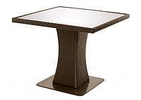 """Стол """"Неаполь"""" (плетен.столешн.-прозрачное стекло) радиусн.углы, фото 1"""
