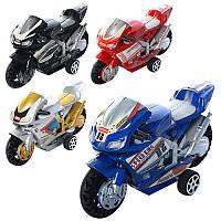 Мотоцикл 66-1 інерційний, 4 види, в кульку, 9,5-5,5-3,5 см