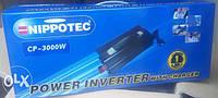Преобразователь NIPPOTEC CP-3000W Инвертор 12-220В с зарядным устройством