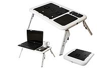 Столик для ноутбука E-Table Черно-белый (E-Table1315)