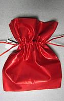 Мешочек для подарков красный 14х14