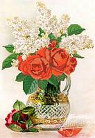 Схема для вышивки бисером Красные розы РКП-099