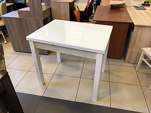 Обеденный стол для маленькой кухни  Марсель со стеклом Fn, цвет на выбор, фото 2