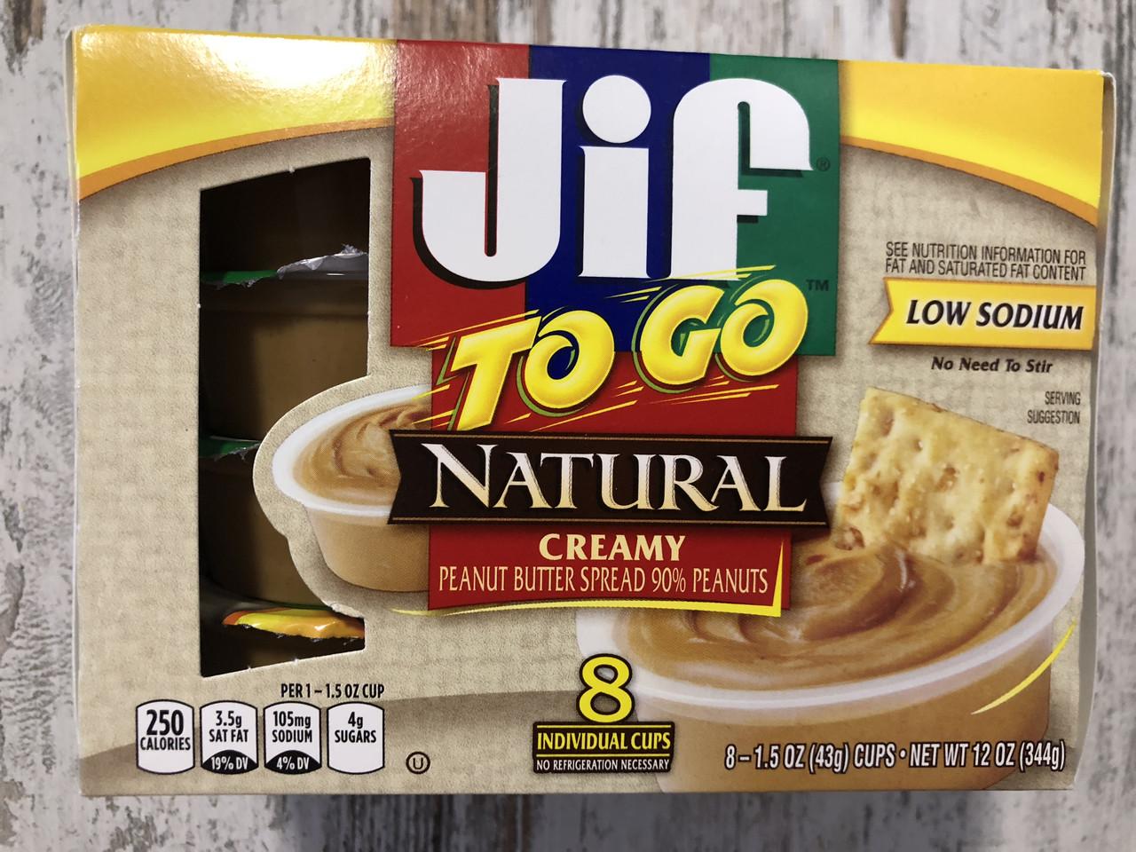 Арахисовая паста JIF TO GO Кремовая в мини-упаковках