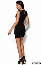 Женское короткое платье-футляр без рукавов (Флоренсkr) Черный, фото 3