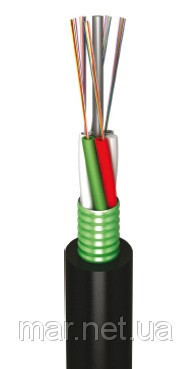 Оптоволоконный кабель,LT, 24 волокон одномодовые, полиэтилен, гофроброня