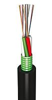 Оптоволоконный кабель,LT, 36 волокон одномодовые, полиэтилен, гофроброня