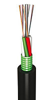 Оптоволоконный кабель,LT, 72 волокна одномодовые, полиэтилен, гофроброня