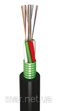 Оптоволоконный кабель,LT, 196 волокон одномодовые, полиэтилен, гофроброня