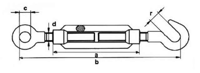 Талреп М22 DIN 1480 тип крюк-кольцо - купить