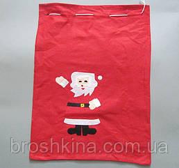 Новогодний мешок для подарков 60*45 см флис