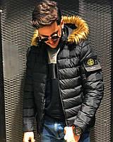 Мужская зимняя куртка в стиле Stone Island | Топовое качество!!