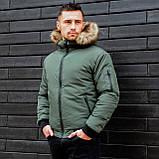 Чоловіча куртка з хутром., фото 5