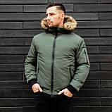 Чоловіча куртка з хутром., фото 6