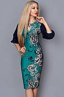 Платье женское  мод 492-2,размер 54,56 бирюза