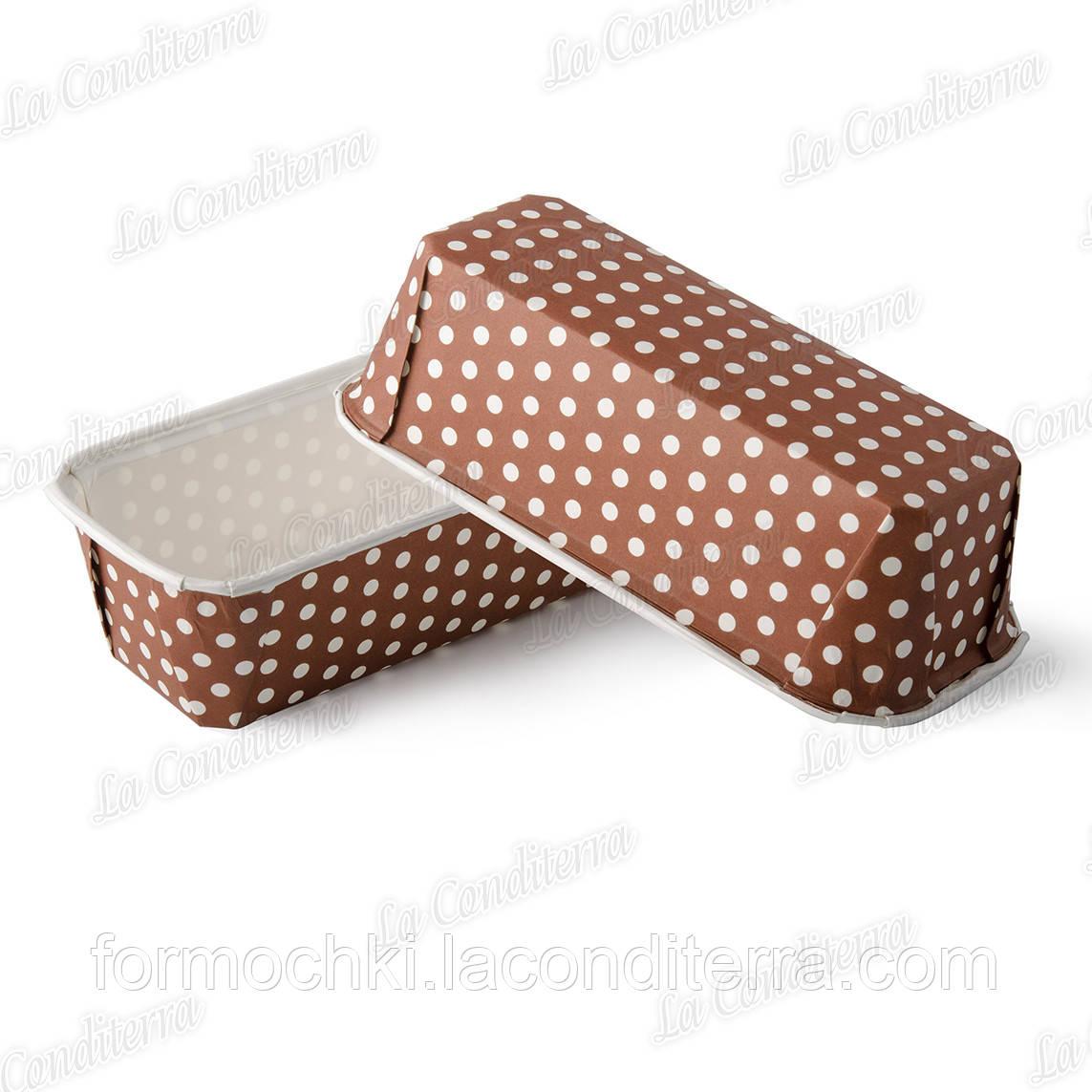 Бумажные формы для выпечки кексов и пирогов, Plumpy прямоугольные 158x55x52 мм