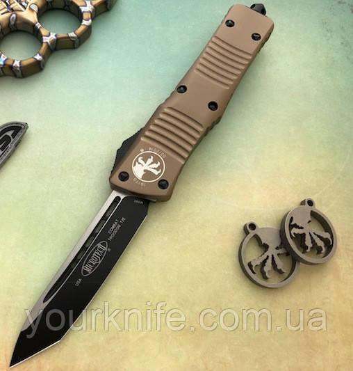Нож автоматический Microtech Troodon Combat TE Black 144-1 TA M390